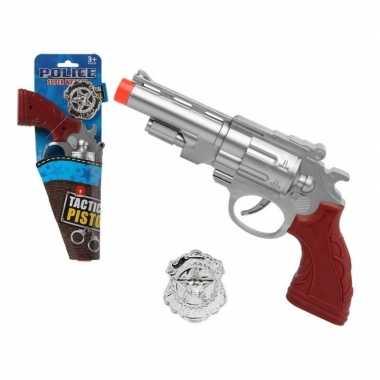 Speelgoed pistool politie zilver carnavalskleding den bosch