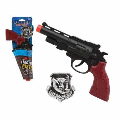 Speelgoed pistool politie zwart carnavalskleding den bosch