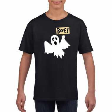 Spook halloween t shirt zwart jongens meisjes carnavalskleding den bo