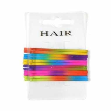 Stuks gekleurde pins haarspeldjes . carnavalskleding den bosch