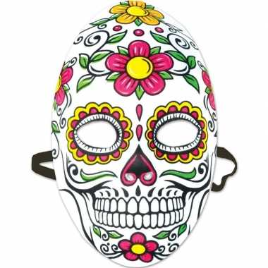 Sugarskull verkleedaccessoire masker dia los muertos/day of the dead