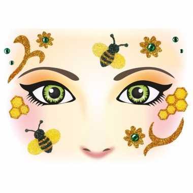 Thema gezicht folie bijen sticker vel carnavalskleding den bosch