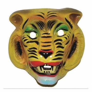 Tijger masker geel volwassenen carnavalskleding Den Bosch