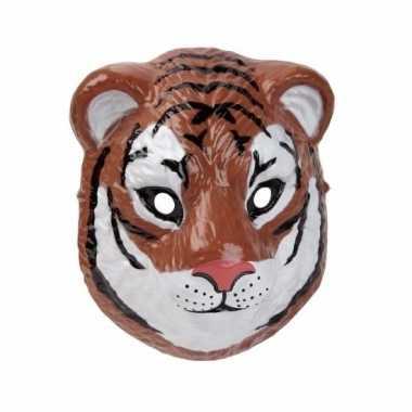 Tijger masker gemaakt plastic d cm carnavalskleding den bosch