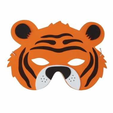 Tijgers foam masker kinderen carnavalskleding den bosch