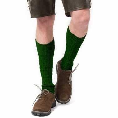 Tiroler / bierfeest/ lederhose sokken groen heren dames carnavalskled