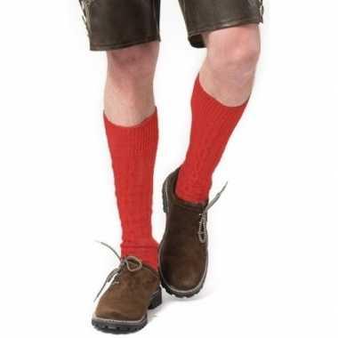 Tiroler / bierfeest/ lederhose sokken rood heren dames carnavalskledi
