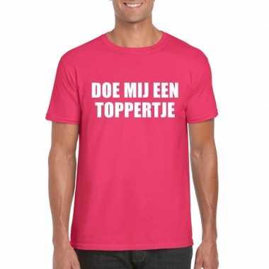 Toppers doe mij een toppertje shirt roze heren carnavalskleding den b