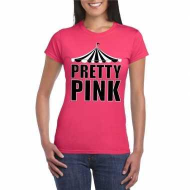 Toppers pretty pink pretty pink t shirt roze dames carnavalskleding d