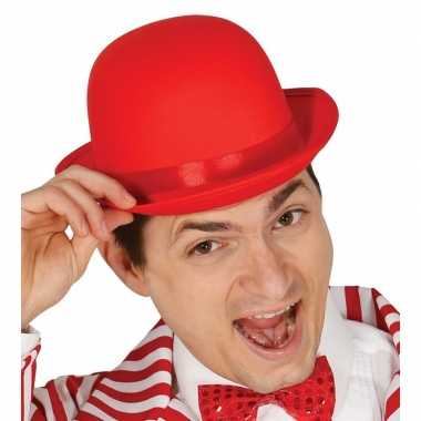 Toppers verkleed hoed/bolhoed rood volwassenen carnavalskleding den b
