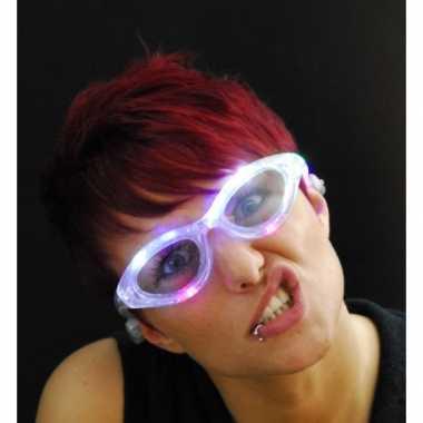 Carnavalskleding transparante bril led licht