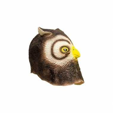 Uilen dierenkop masker carnavalskleding den bosch