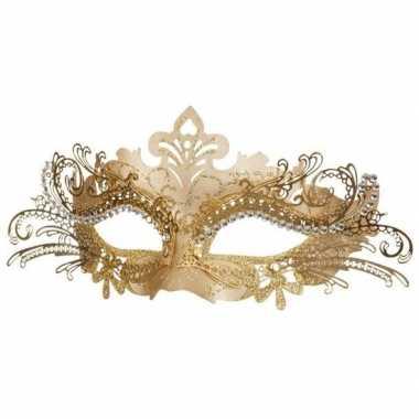 Venetiaans goudkleurig oogmasker carnavalskleding den bosch