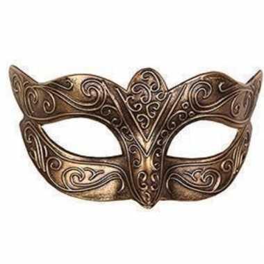 Venetiaans masker loup goud carnavalskleding den bosch