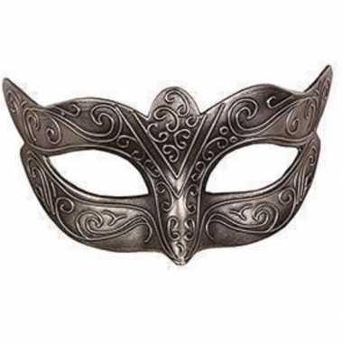 Venetiaans masker loup zilver carnavalskleding den bosch