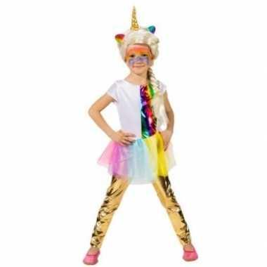 Verkleed accessoire legging goud kinderen carnavalskleding den bosch