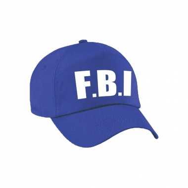 Verkleed fbi agent pet / cap blauw dames heren carnavalskleding den bosch