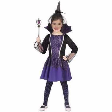 Carnavalskleding verkleed jurkje vampier paars meisjes
