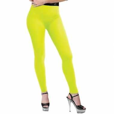 Verkleed legging neon geel dames carnavalskleding den bosch