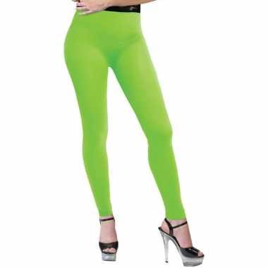 Verkleed legging neon groen dames carnavalskleding den bosch