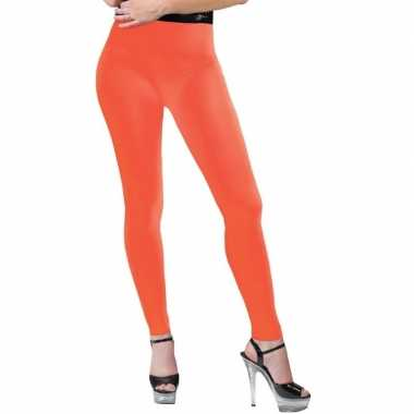 Verkleed legging neon oranje dames carnavalskleding den bosch
