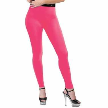 Verkleed legging neon roze dames carnavalskleding den bosch