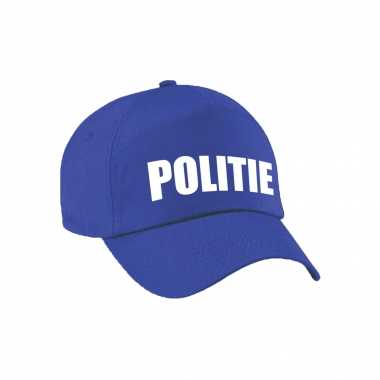 Verkleed politie agent pet / cap blauw dames heren carnavalskleding den bosch