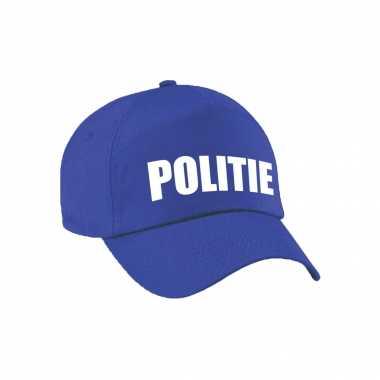 Verkleed politie agent pet / cap blauw jongens meisjes carnavalskleding den bosch
