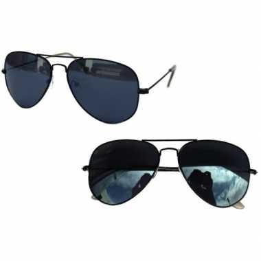 Verkleed politie/agenten zonnebril zwart volwassenen carnavalskleding