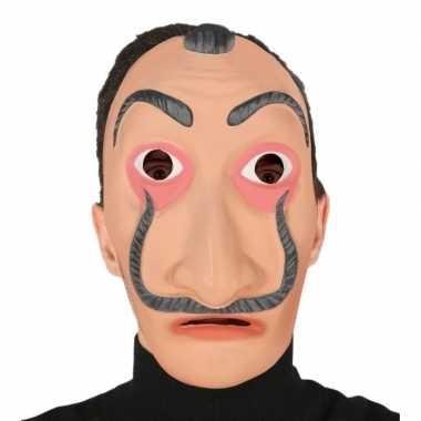 Verkleed salvador dali bankrover masker volwassenen carnavalskleding