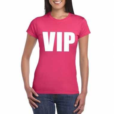 Vip fun t shirt roze dames carnavalskleding den bosch