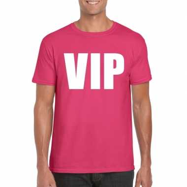 Vip fun t shirt roze heren carnavalskleding den bosch