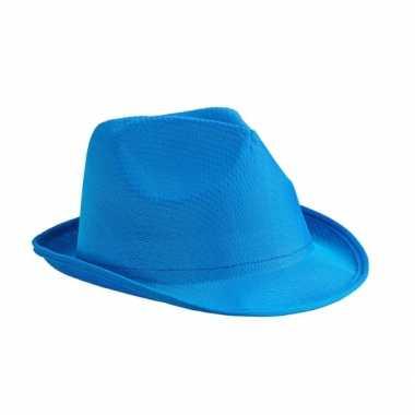 Voor hoedje blauw polyester carnavalskleding den bosch