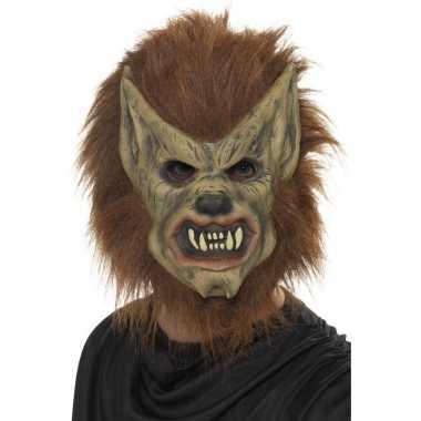 Weerwolf masker bruin volwassenen carnavalskleding den bosch