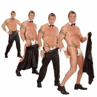 Wegtrek broek strippers carnavalskleding den bosch