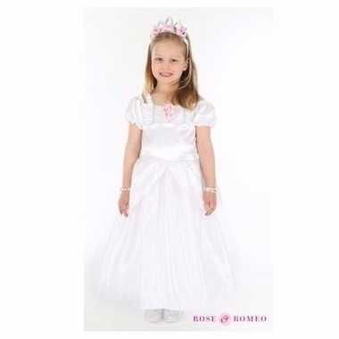 Wit trouwjurkje kinderen carnavalskleding den bosch