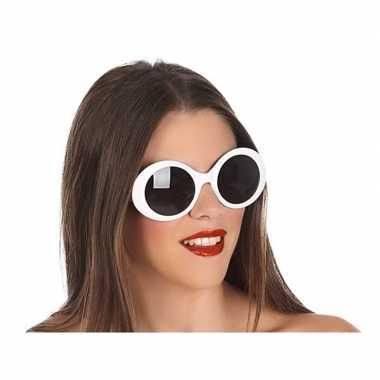 Witte dames verkleedbril carnavalskleding den bosch