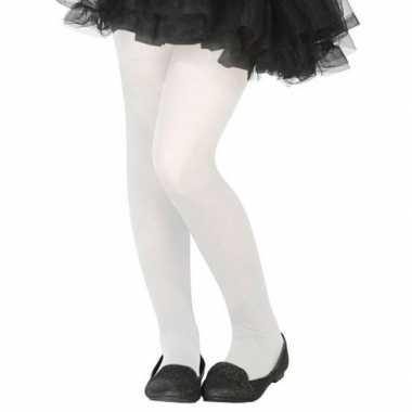 Witte denier panty kinderen carnavalskleding bosch