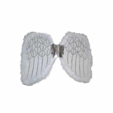Witte engelen vleugels kinderen carnavalskleding den bosch