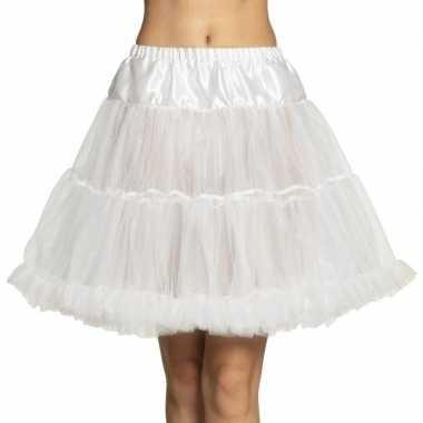 Witte lange petticoat dames carnavalskleding den bosch