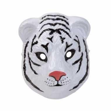 Witte tijger masker gemaakt plastic d cm carnavalskleding den bosch