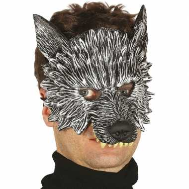 Wolf/wolven horror/halloween masker foam carnavalskleding den bosch