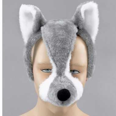 Wolvenmasker geluid volwassenen carnavalskleding Den Bosch