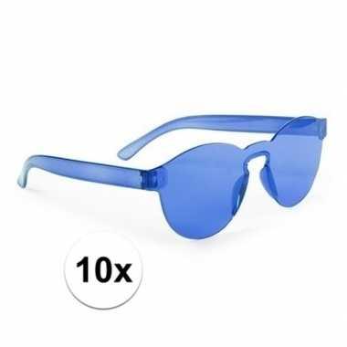 X blauwe feestbril volwassenen carnavalskleding den bosch
