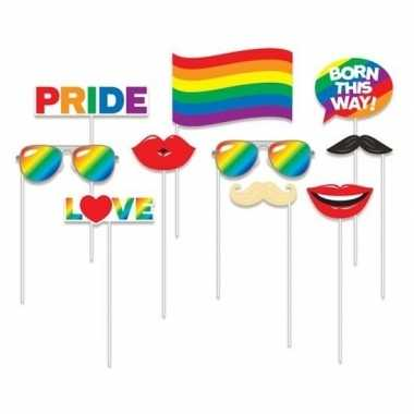 X foto props regenboog pride thema carnavalskleding den bosch