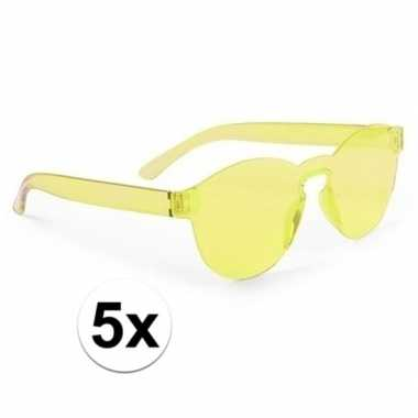 X gele feestbril volwassenen carnavalskleding den bosch