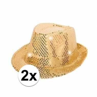 X glitter hoeden goud led verlichting carnavalskleding bosch