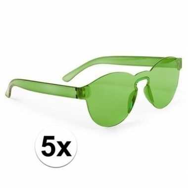 X groene feestbril volwassenen carnavalskleding den bosch