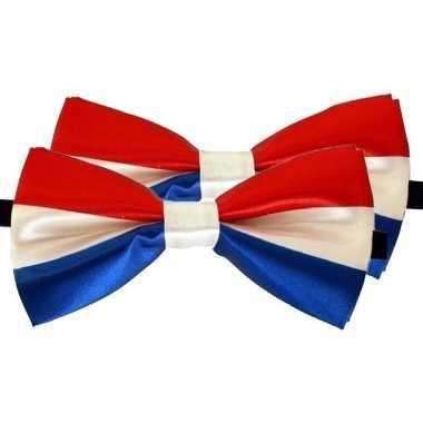 X holland/nederland verkleed vlinderstrikken/vlinderdassen dames/heren carnavalskleding den bosch