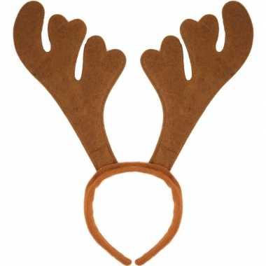 X kerst verkleedaccessoire bruin rendieren gewei volwassenen carnaval